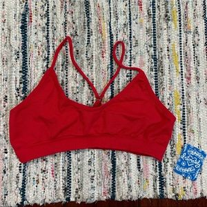 Free people red bralette